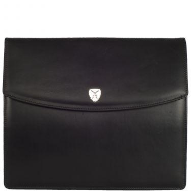 Conference case briefcase A4 leather black