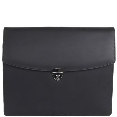 Conference case briefcase A4 leather black with lock