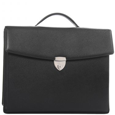 Conference case briefcase A4 Leather black with handle