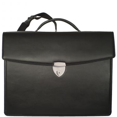 Conference case briefcase A4 leather black with laptop compartement