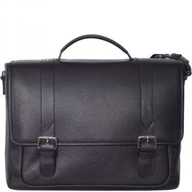 Konferenzmappe Aktentasche Laptoptasche 15 Zoll Leder schwarz mit 2 Steckschlössern