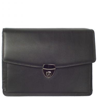 Wristbag briefcase A5 leather black