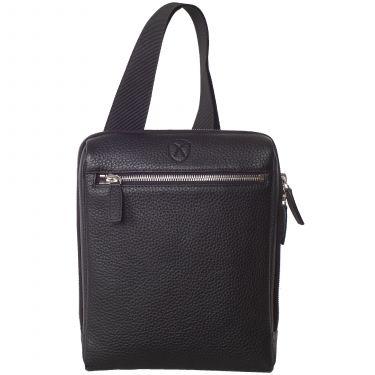 Tablet bag  shoulderbag 10 inch leather black