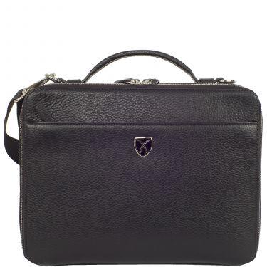 Laptop bag tablet bag 10 inch leather black
