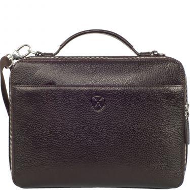 Laptop bag tablet bag 10 inch leather brown