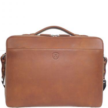 Laptoptasche Businesstasche 13 Zoll Leder Cognac
