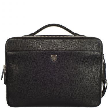 Laptoptasche Businesstasche 13 Zoll Leder schwarz