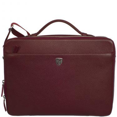 Laptoptasche Businesstasche 13 Zoll Leder bordeauxrot