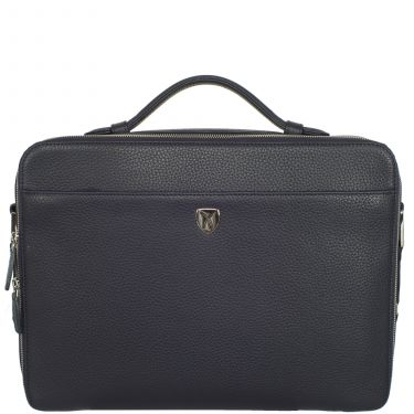 Laptoptasche Businesstasche 13 Zoll Leder blau