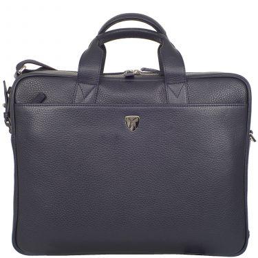 Laptoptasche Businesstasche 15 Zoll Leder blau