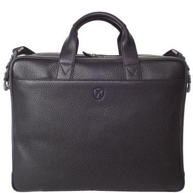Laptoptasche Businesstasche 15 Zoll Leder schwarz