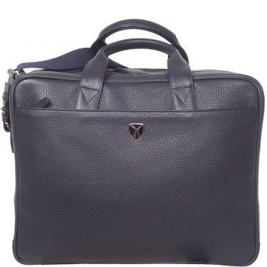 Laptop bag business bag 15 inch leather blue