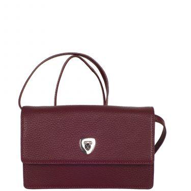 Handbag clutch leather bordeaux
