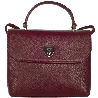 Handtasche Leder bordeauxrot