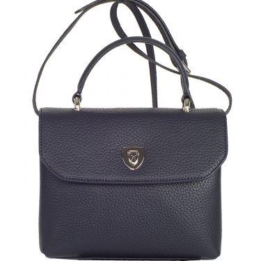 Handbag leather blue