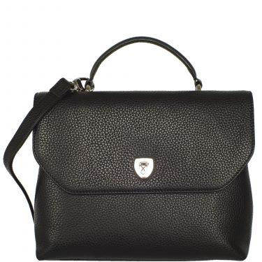 Handtasche Schultertasche Leder schwarz