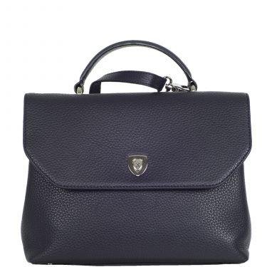 Handtasche Schultertasche Leder blau