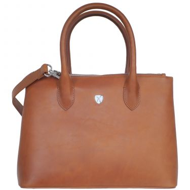 Handtasche Businesstasche 10 Zoll Leder cognac