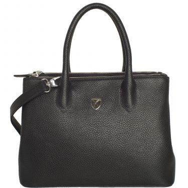 Handtasche Businesstasche 10 Zoll Leder schwarz