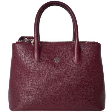 Handtasche Businesstasche 10 Zoll Leder bordeauxrot
