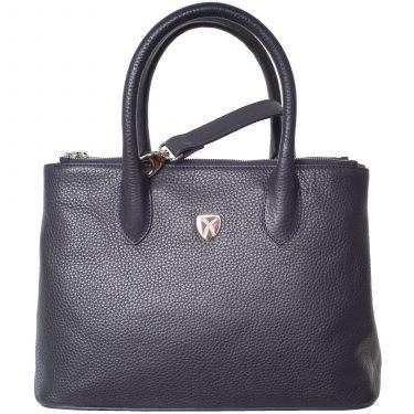 Handtasche Businesstasche 10 Zoll Leder blau