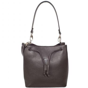 Handbag shoulderbag 10 inch leather brown