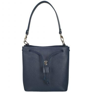 Handtasche Umhängetasche 10 Zoll Leder blau