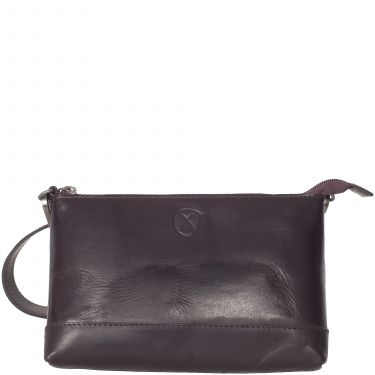 Handbag shoulderbag  leather brown