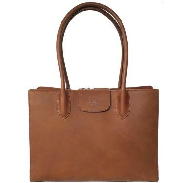 Handtasche Businesstasche 13 Zoll Leder cognac