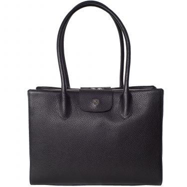 Handtasche Businesstasche 13 Zoll Leder schwarz
