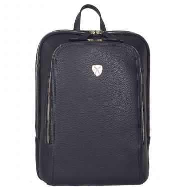 Business backpack leather backpack 13 inch leather blue