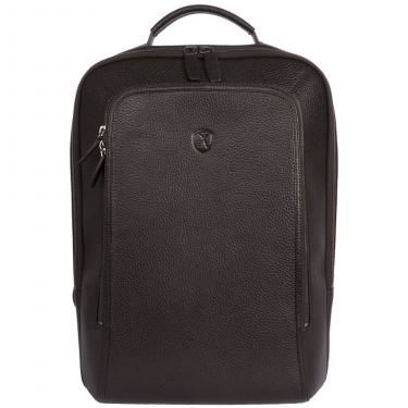 Business backpack leather backpack 15 inch leather brown