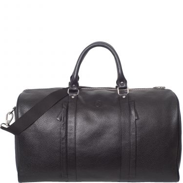 Leather travel bag business bag  leather black