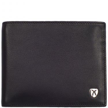 Wallet purse leather black standard format