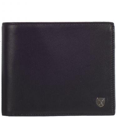 Wallet purse leather black standard size