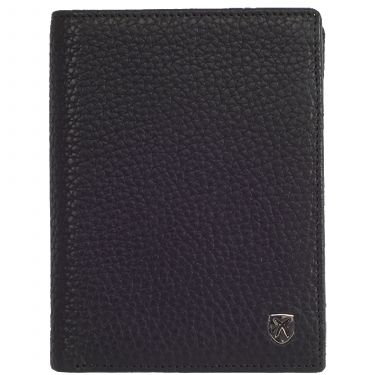 Wallet purse leather black high size