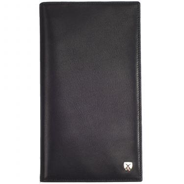 Kreditkartenetui Leder schwarz 24 Fächer