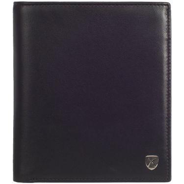 Geldbörse Portemonnaie Leder schwarz 18 Fächer