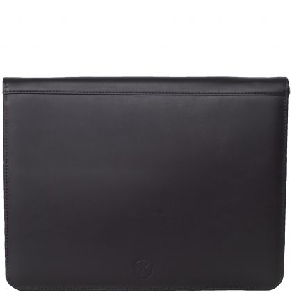 Conference case briefcase A4 leather black with all-round zip