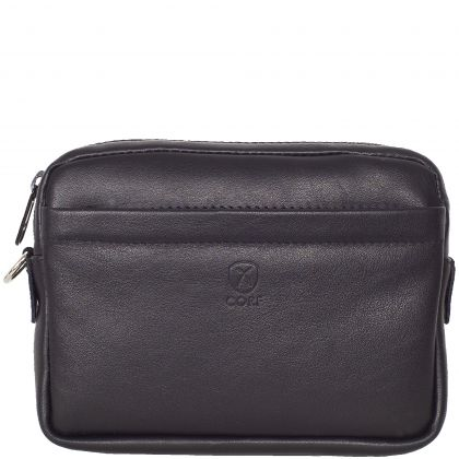 Wristbag pouchbag leather black