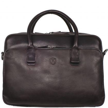Laptoptasche Businesstasche 15 Zoll Leder braun mit Doppelgriff