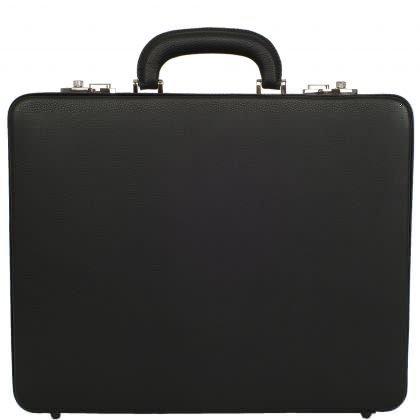 Aktenkoffer 15 Zoll Leder schwarz