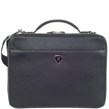 Laptop bag tablet bag 10 inch leather blue