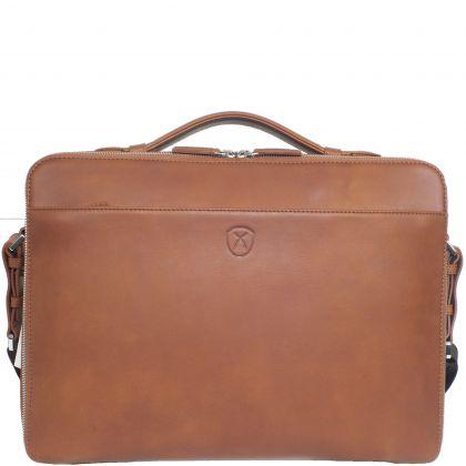 Laptop bag business bag 13 inch leather cognac