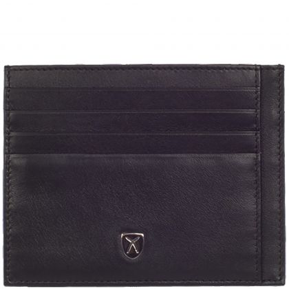 Card case leather black 14 compartment