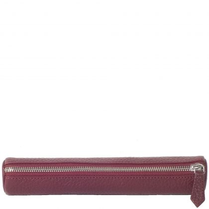 Pen case leather bordeaux