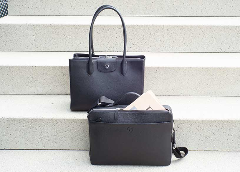 Top 5 black leather business bags for ladies