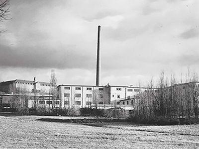 Gerberei und Lederwarenabteilung um 1930