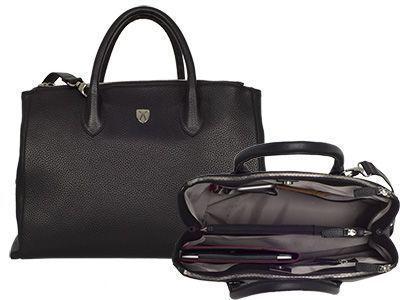 Top 4 Tosca Damen Businesstasche Handtasche 15 Zoll schwarz