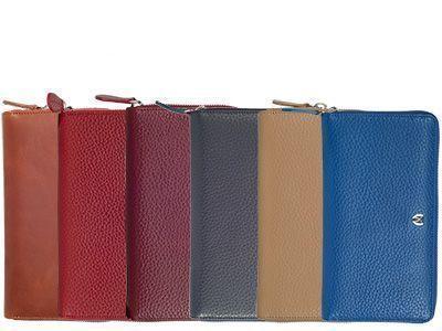 Damenbörse in verschiedenen Farben